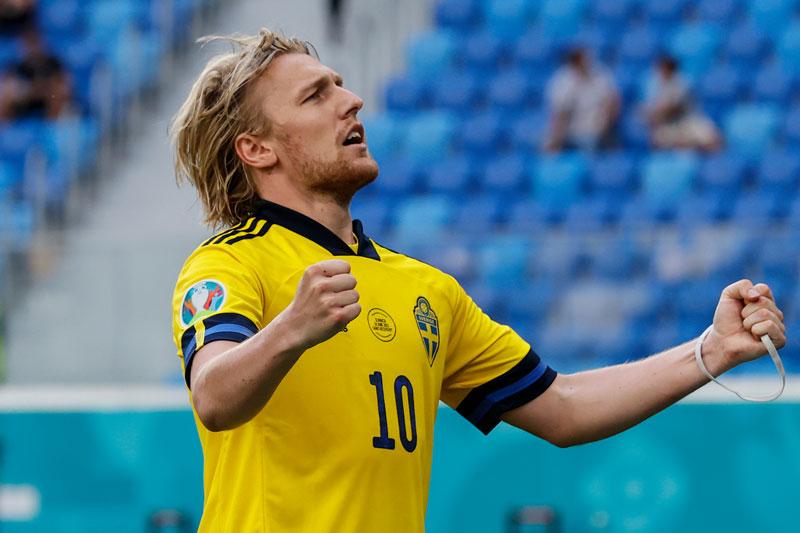 =5. Emil Forsberg (Thuỵ Điển, tổng số pha dứt điểm: 14, số bàn thắng: 4).