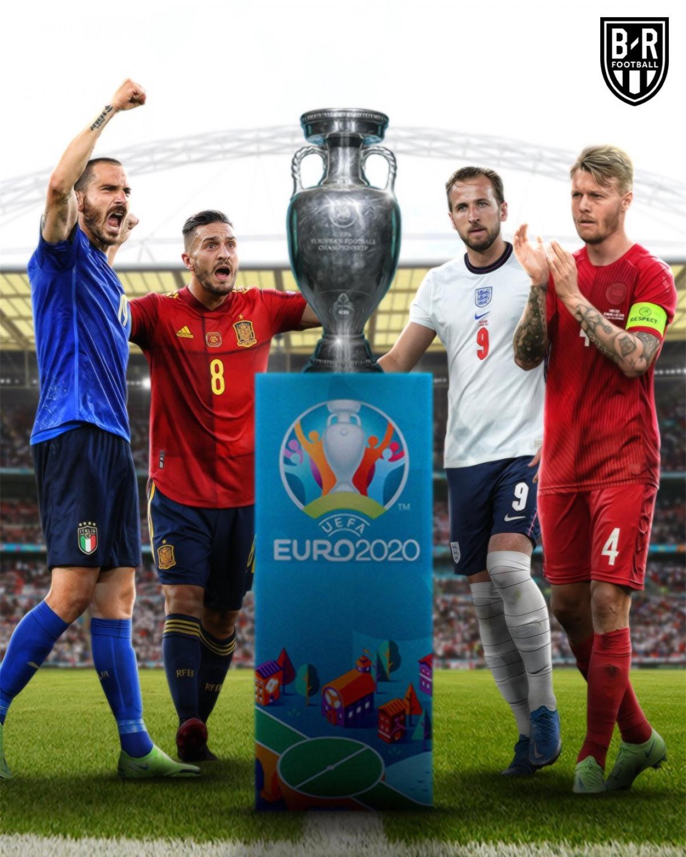 Đêm nay vòng bán kết EURO 2021 sẽ khởi tranh. (Ảnh: Bleacher Reports)