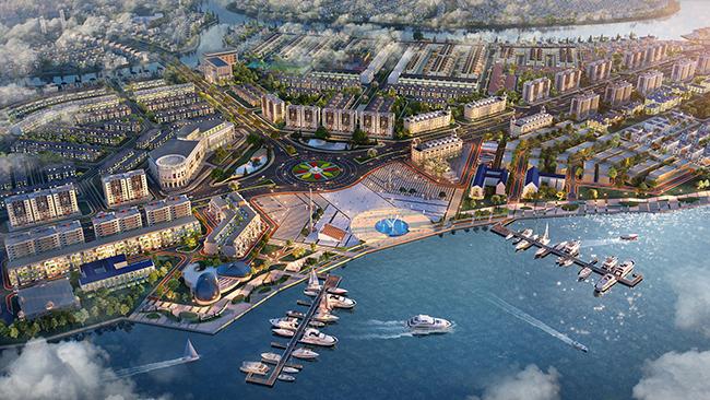 Tổ hợp quảng trường - bến du thuyền Aqua Marina tại Aqua City được xem là tiện ích thượng lưu hàng đầu khu vực.