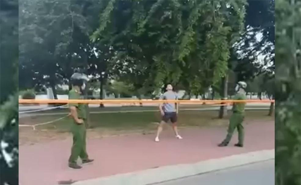 Thanh niên ở TP.HCM không đeo khẩu trang ra công viên tập thể dục bị phạt 4 triệu