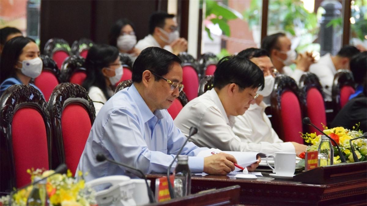 Thủ tướng Phạm Minh Chính cùng các đại biểu tại Lễ phát động