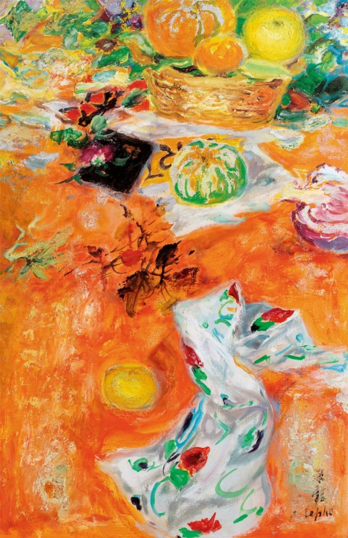 """Bức tranh """"Tĩnh vật"""" của Lê Phổ."""
