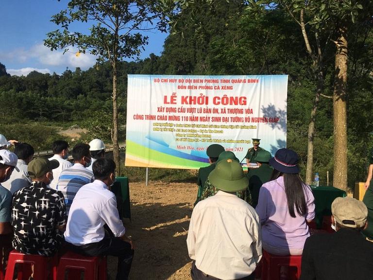 Lễ khởi công xây dựng cầu vượt lũ dân sinh bản Ón- Đồng bào Rục- Quảng Bình