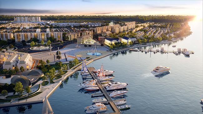 Tổ hợp Quảng trường - Bến du thuyền phong cách châu Âu hàng đầu khu vực tại Aqua City dự kiến ra mắt trong tháng 7 này.