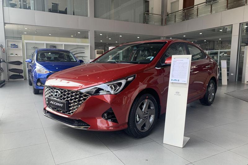 2. Hyundai Accent (doanh số: 9.949 chiếc). Ảnh: Hyundai Phạm Văn Đồng.