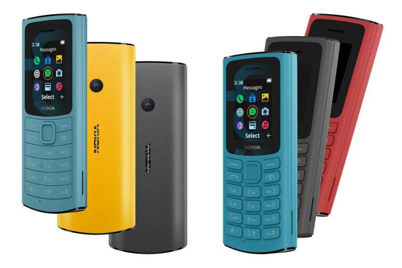 Nokia 110 4G (trái) và Nokia 105 4G.