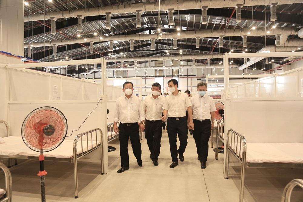 Chỉ sau 5 ngày thi công, Bệnh viện dã chiến Bình Dương số 1 quy mô 1.500 giường, đã hoàn thành và đưa vào sử dụng.