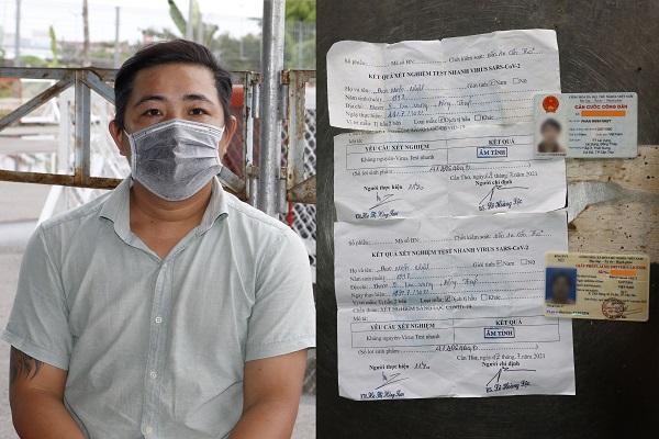 Nhựt và giấy xét nghiệm âm tính bị làm giả ngày.