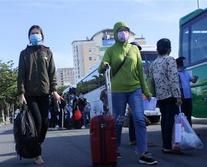 Các công dân chuẩn bị để được trở về quê