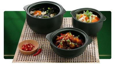 Món ăn làm ra bởi nồi sứ Minh Long.