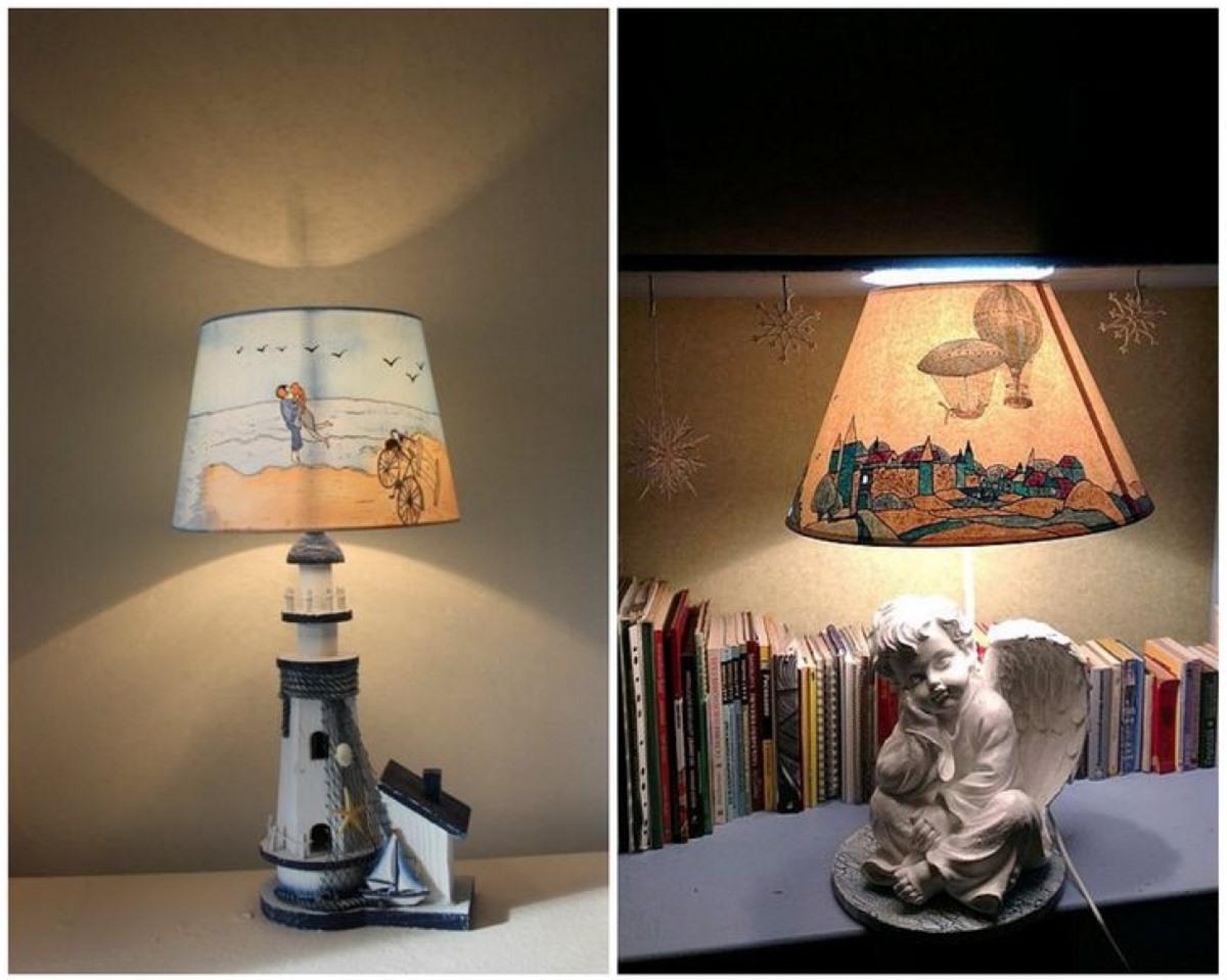 Bạn có thể thỏa sức sáng tạo và biến hóa những tấm chụp đèn theo ý muốn để tăng sự thú vị cho căn phòng của mình./.