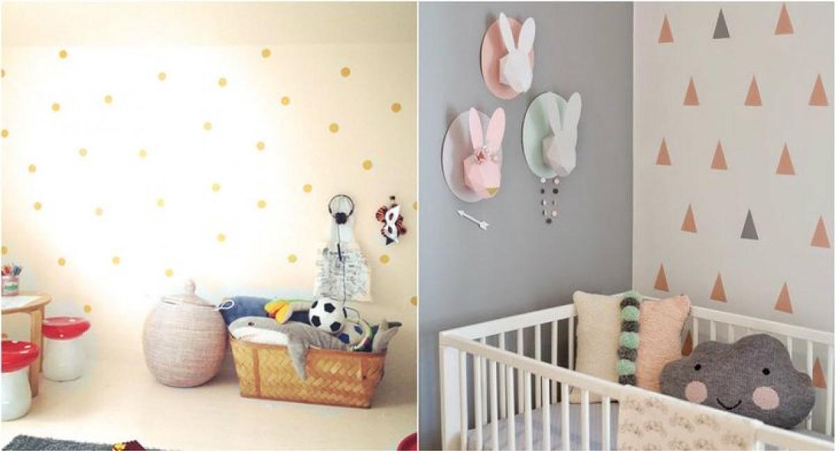 Giấy nến đơn giản với hình dạng đám mây hoặc hạt mưa thực sự có thể tạo thêm điểm nhấn bất ngờ cho phòng ngủ của các con.