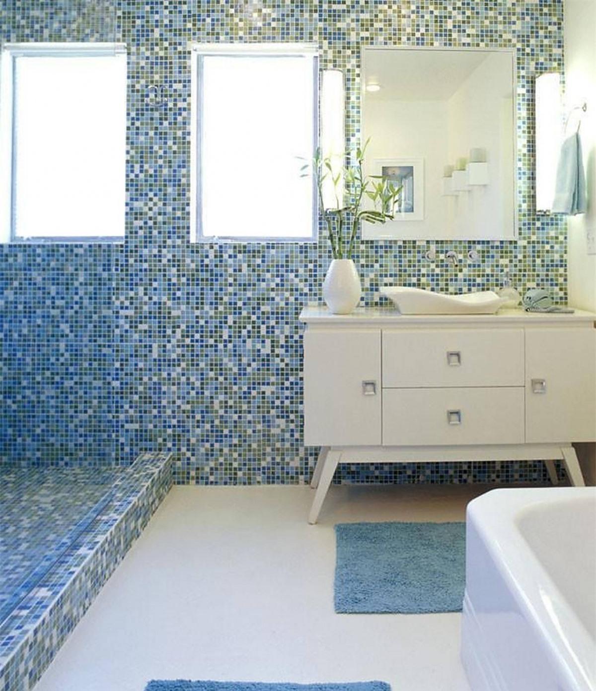 Sử dụng sự kết hợp tối giản giữa xanh lam và màu trắng sẽ tạo nên một không gian nhẹ nhàng, trông rộng rãi hơn.