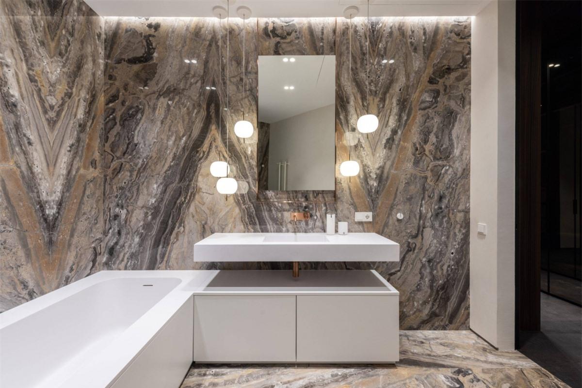 Đừng bỏ qua yếu tố đá cẩm thạch vì nó sẽ giúp bạn có được một không gian hiện đại và tinh tế nhất.