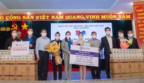 Lâm Đồng: Nhiều doanh nghiệp chung tay hỗ trợ tuyến đầu chống dịch