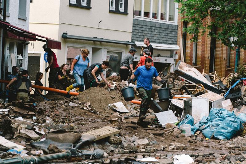 Lũ lụt gây hậu quả nghiêm trọng tại Đức. Ảnh: DPA