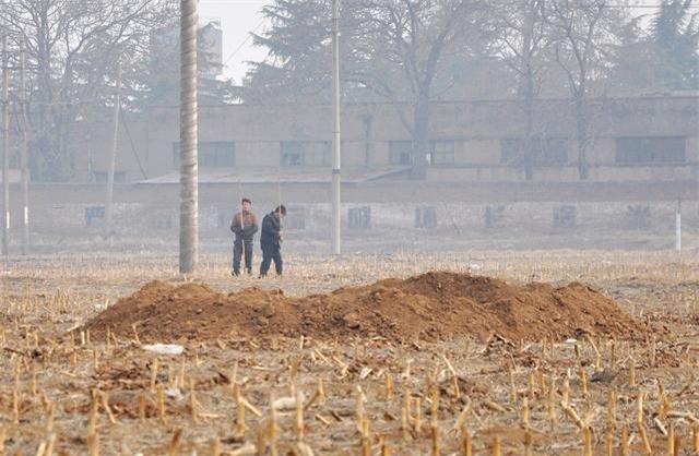 Cứ cách vài tháng trên ruộng của người nông dân lại xuất hiện những hố không đáy kỳ lạ, cảnh sát vào cuộc: Sự thật lộ diện! - Ảnh 1.