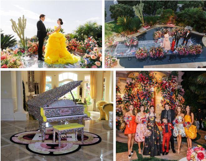 Lễ kỷ niệm 10 năm ngày cưới của nữ tỷ phú gốc Việt vô cùng hoành tráng.