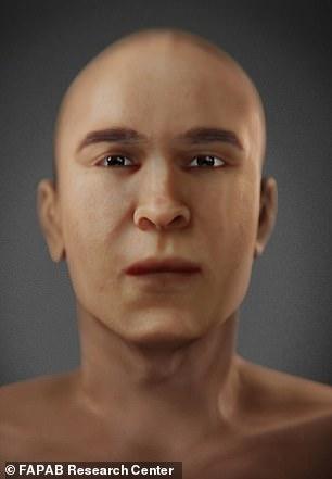 Hình ảnh tái tạo khuôn mặt vua Tutankhamen (trái) và Akhenaten (phải). 2 người có nhiều nét tương đồng.