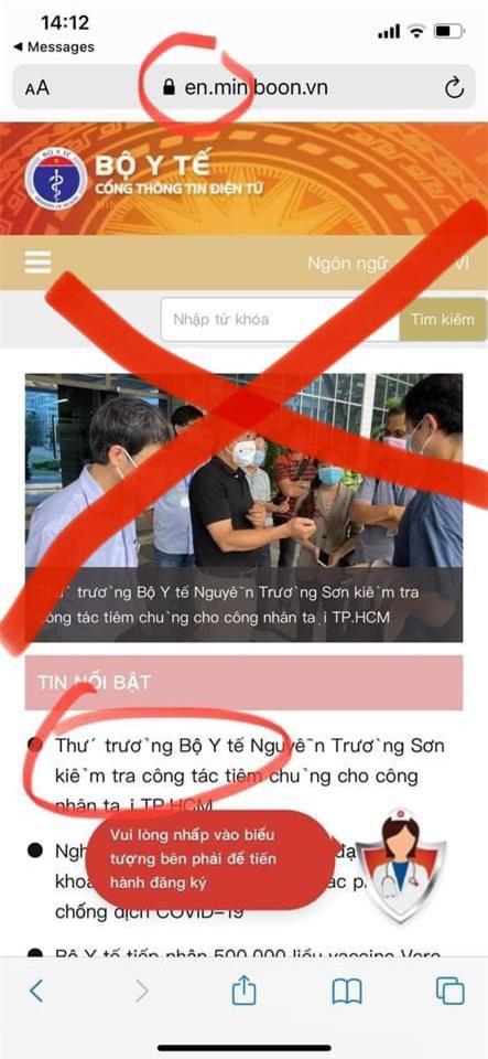 Cảnh báo thủ đoạn giả mạo website của Bộ Y tế để lừa đảo trợ cấp COVID-19 - Ảnh 1.