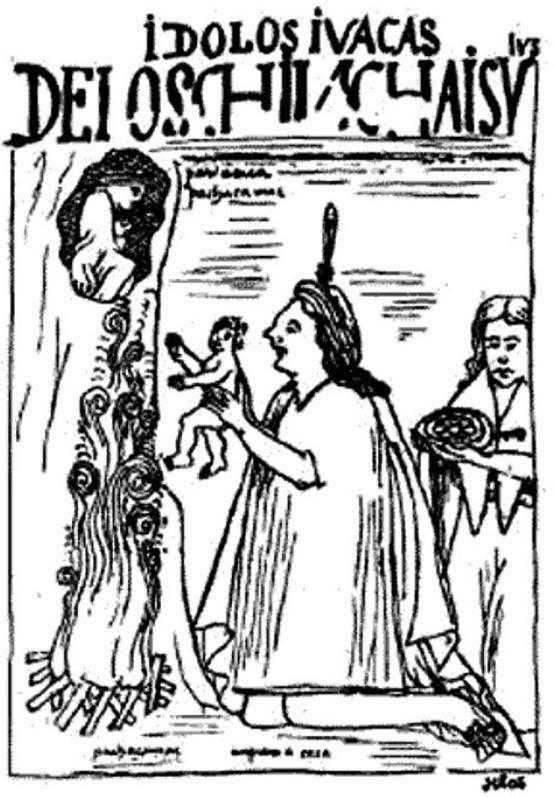 Bức tranh mô tả nghi thức hiến tế Capacocha