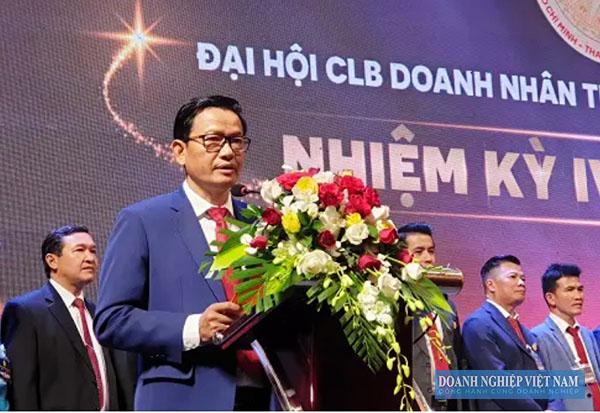 Ông Trịnh Tiến Dũng, Chủ tịch CLB Doanh nhân Thanh Hóa tại TP. Hồ Chí Minh, thành viên ban tổ chức.