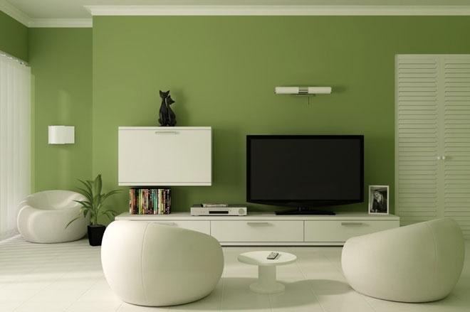 Những ý tưởng trang trí phòng khách màu xanh mát mắt