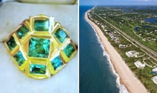 Chiếc nhẫn trị giá hơn 17 tỷ đồng được tìm thấy tình cờ trên bãi biển Mỹ.