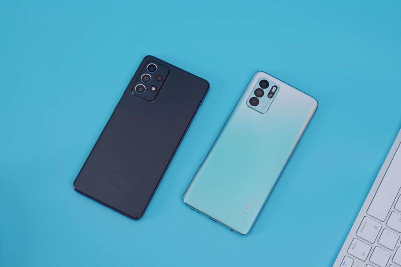 So sánh Oppo Reno6 Z 5G với Samsung Galaxy A52 - mega 655