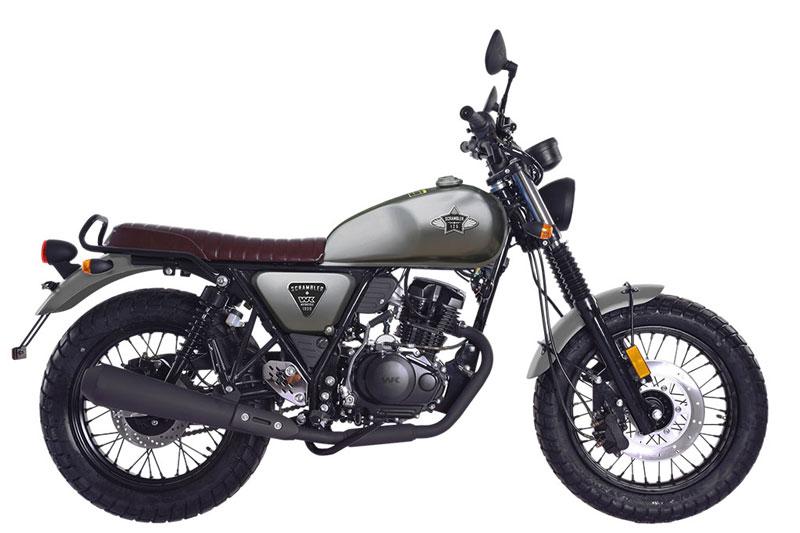 1. WK Bikes 125 Scrambler (giá khởi điểm: 2.199 bảng).
