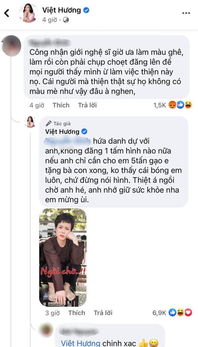 Việt Hương thách antifan ủng hộ 5 tấn gạo thì sẽ thực hiện lời hứa danh dự này! - Ảnh 1.