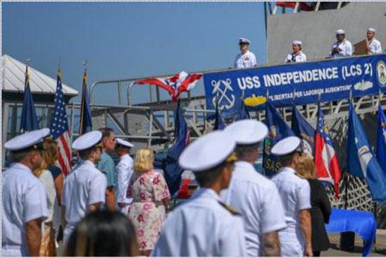 Mỹ loại biên tàu Littoral long trọng như khi hạ thủy