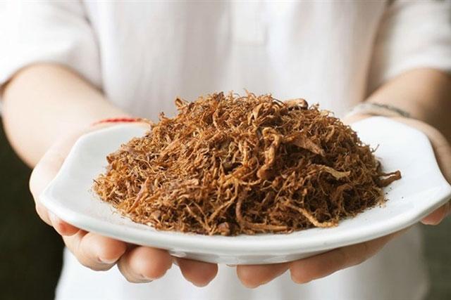 Món ruốc nấm hương chay thơm ngon, tốt cho sức khỏe.