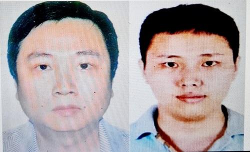 Các bị can Trương Thái Nguyên và Nguyễn Ngọc Đại Nghĩa.