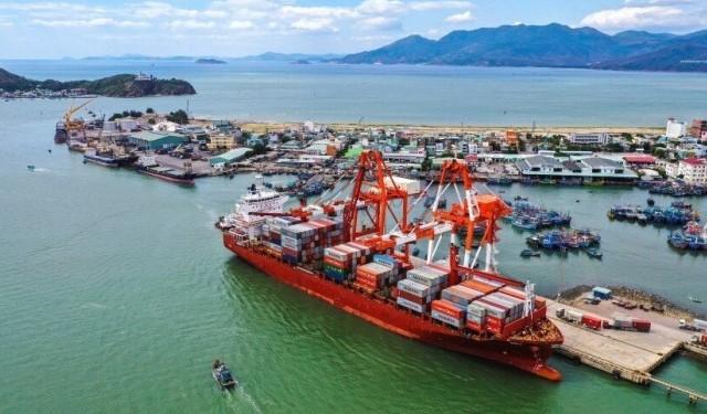 Một phần của cảng Quy Nhơn