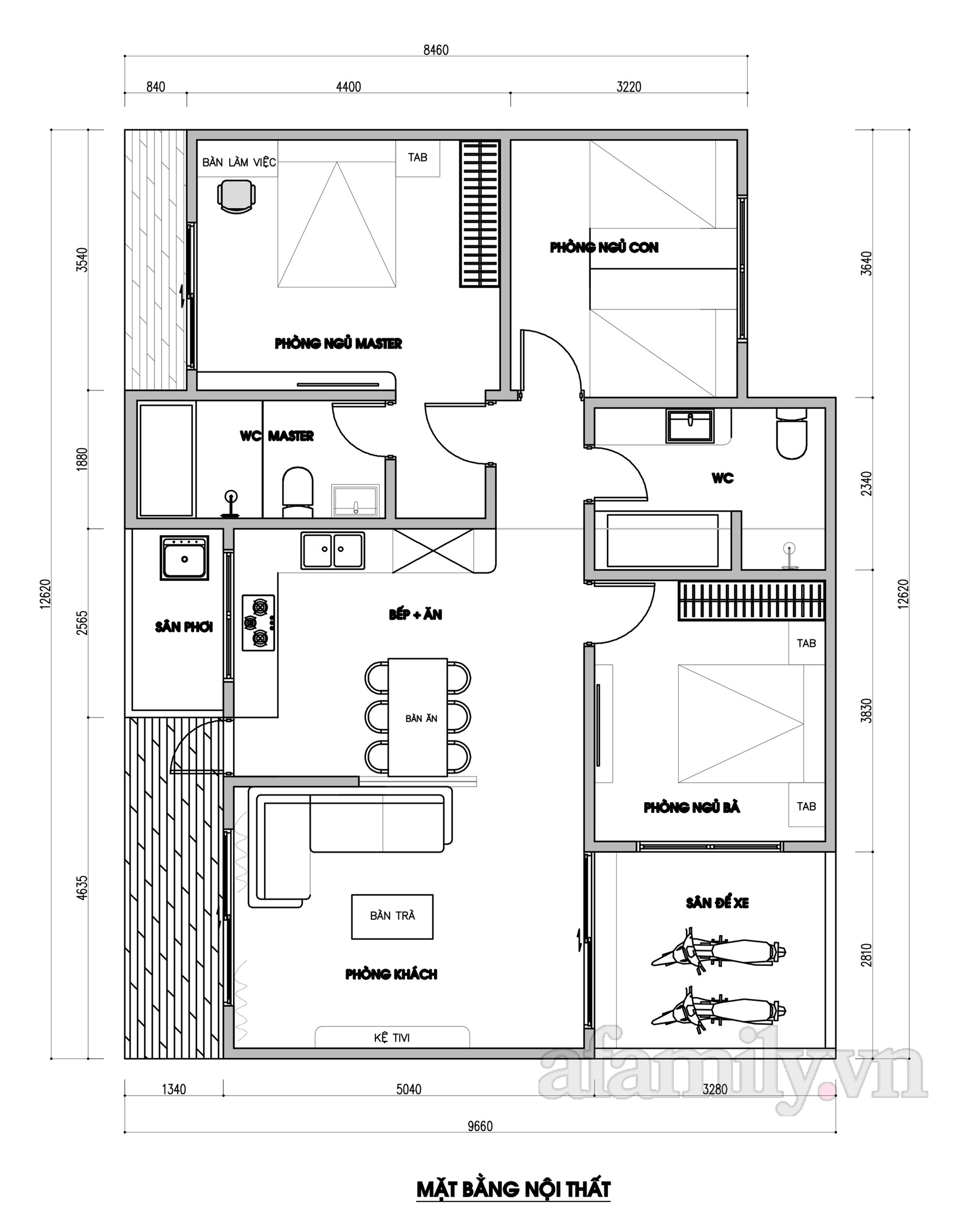 Kiến trúc sư tư vấn thiết kế nhà cấp 4 diện tích 100m² cho gia đình 3 thế hệ chi phí 237 triệu - Ảnh 2.