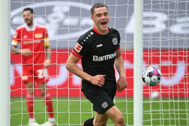 8. Florian Wirtz (Bayer Leverkusen, 18, định giá chuyển nhượng: 45 triệu euro).