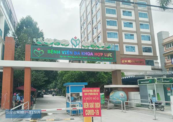 Phong tỏa toàn bộ Bệnh viện Đa khoa Hợp Lực (TP Thanh Hóa).