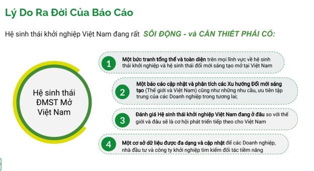 Báo cáo toàn cảnh Đổi mới sáng tạo mở ở Việt nam sẽ cung cấp bức tranh về hệ sinh thái khởi nghiệp.