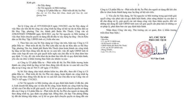 Đắk Lắk yêu cầu không xử lý hồ sơ giao dịch đất nền tại khu dân cư Hà Huy Tập.