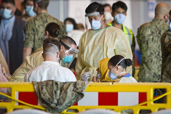 Hơn 218,3 triệu người trên thế giới đã nhiễm virus SARS-CoV-2. (Ảnh: AP)