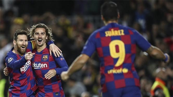 Sự ra đi của tam giác tấn công Messi-Suarez-Griezmann khiến giá trị đội hình của Barca giảm mạnh