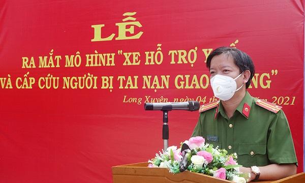 Trung tá Nguyễn Đức Hậu, Trưởng Công an TP Long Xuyên.