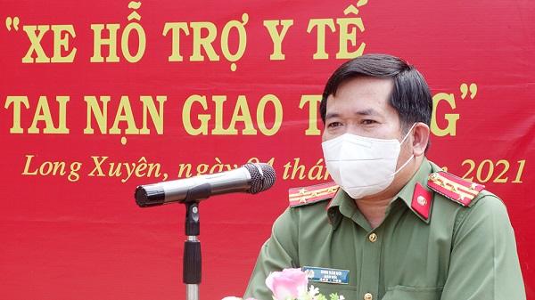 """Giám đốc Công an tỉnh đã chủ trương triển khai mô hình """"Cấp cứu người bị tai nạn giao thông"""" tại TP Long Xuyên"""
