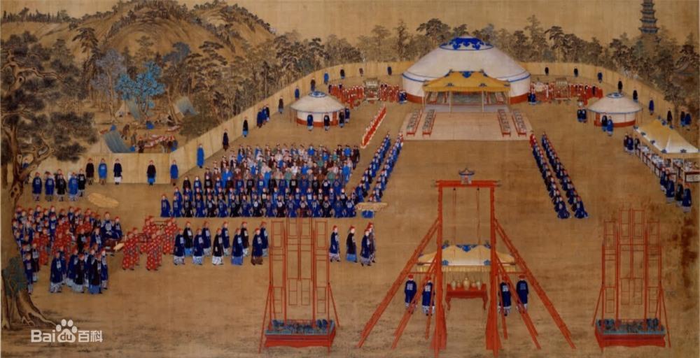 Phóng to 10 lần tranh vẽ bữa tiệc của Càn Long, cư dân mạng Trung Quốc không tin vào mắt mình: Thật là to gan! - Ảnh 1.