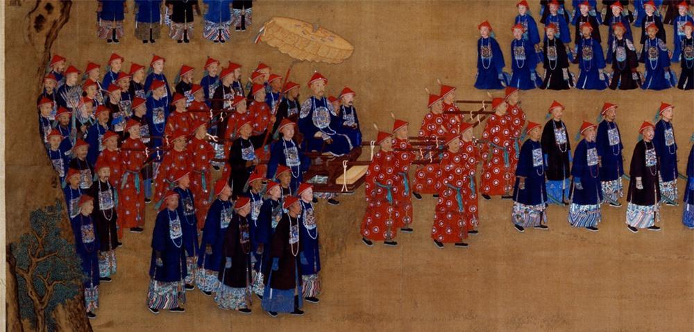 Phóng to 10 lần tranh vẽ bữa tiệc của Càn Long, cư dân mạng Trung Quốc không tin vào mắt mình: Thật là to gan! - Ảnh 3.