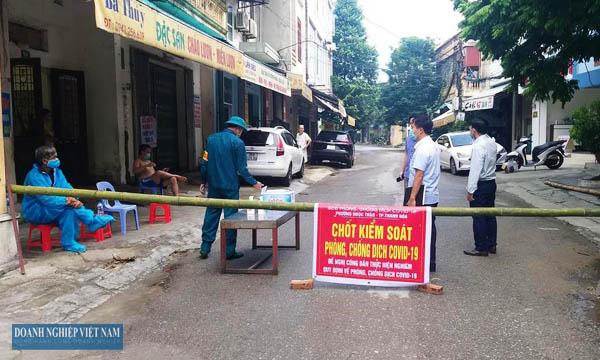 Phong tỏa khu phố Thôi Hữu thuộc phường Ngọc Trạo, TP Thanh Hóa.
