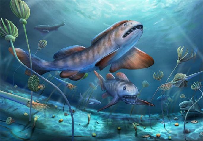 Tái sinh quái ngư răng cánh hoa 290 triệu tuổi, tổ tiên bóng ma đại dương - Ảnh 1.