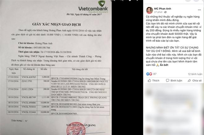 Giữa lùm xùm từ thiện, MC Phan Anh bỗng dưng tung 6,5kg sao kê 24 tỷ kêu gọi cứu trợ miền Trung năm 2016 - Ảnh 6.
