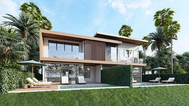 NovaWorld Phan Thiet thu hút nhà đầu tư nhờ chương trình ưu đãi hấp dẫn cùng các sản phẩm second home đa mục đích sử dụng và khả năng sinh lợi bền vững (Ảnh phối cảnh PGA Golf Villas- Biệt thự sân Golf).